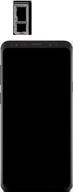 Samsung Galaxy S9 Plus - Premiers pas - Insérer la carte SIM - Étape 3