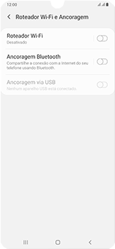 Samsung Galaxy A50 - Wi-Fi - Como usar seu aparelho como um roteador de rede wi-fi - Etapa 6