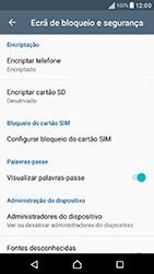 Sony Xperia XA (F3111) - Segurança - Como ativar o código PIN do cartão de telemóvel -  5