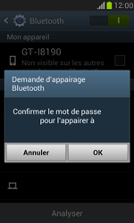 Samsung I8190 Galaxy S III Mini - Bluetooth - connexion Bluetooth - Étape 9