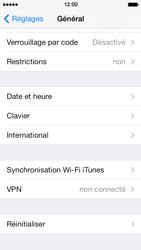 Apple iPhone 5s - Aller plus loin - Restaurer les paramètres d'usines - Étape 4