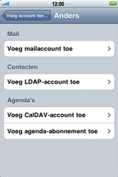 Apple iPhone 3G - E-mail - handmatig instellen - Stap 6
