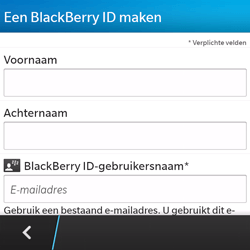 BlackBerry Q5 - Applicaties - Account aanmaken - Stap 8