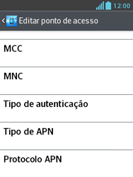 LG E430 Optimus L3 II - Internet (APN) - Como configurar a internet do seu aparelho (APN Nextel) - Etapa 16