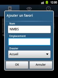 Samsung S5360 Galaxy Y - Internet - navigation sur Internet - Étape 9