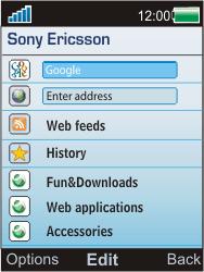 Sony Ericsson W595 - Internet - Manual configuration - Step 4