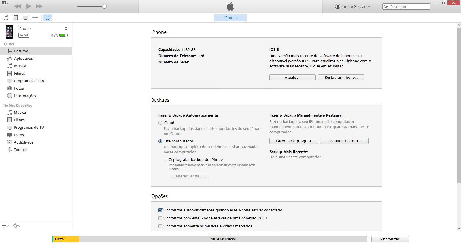 Apple iPhone iOS 6 - Conexão com pc - Como transferir arquivos do computador para seu aparelho - Etapa 4