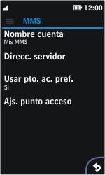 Nokia Asha 311 - Mensajería - Configurar el equipo para mensajes multimedia - Paso 8