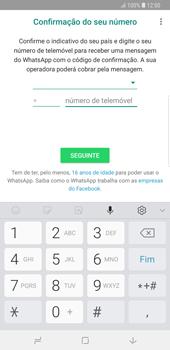 Samsung Galaxy Note9 - Aplicações - Como configurar o WhatsApp -  9