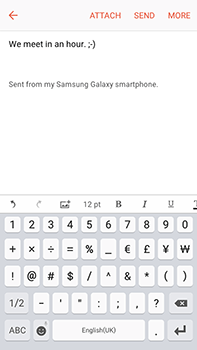 Samsung Galaxy J7 (2016) (J710) - Email - Sending an email message - Step 11