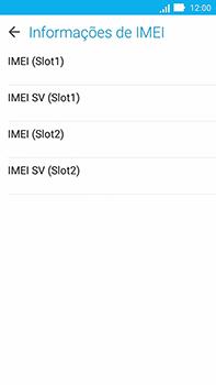 Asus Zenfone Go - Primeiros passos - Como encontrar o número de IMEI do seu aparelho - Etapa 7