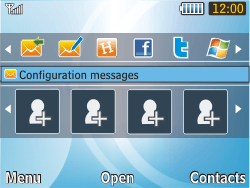Samsung S3350 Chat 335 - MMS - Automatic configuration - Step 3