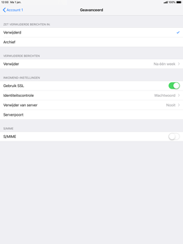 Apple ipad-pro-10-5-inch-ios-12 - E-mail - Account instellen (POP3 zonder SMTP-verificatie) - Stap 22