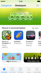 Apple iPhone iOS 7 - Aplicativos - Como baixar aplicativos - Etapa 3