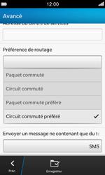 BlackBerry Z10 - SMS - Configuration manuelle - Étape 9