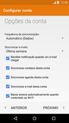 Motorola Moto X - Email - Como configurar seu celular para receber e enviar e-mails - Etapa 8