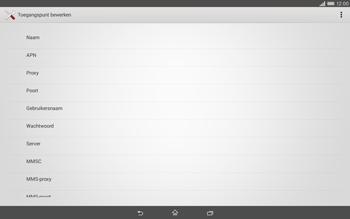 Sony Xperia Tablet Z2 (SGP521) - MMS - handmatig instellen - Stap 8