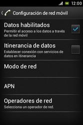 Sony Xperia E - Internet - Activar o desactivar la conexión de datos - Paso 6