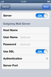 Apple iPhone 4 S iOS 6 - Email - Manual configuration - Step 16