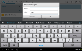 Samsung N8000 Galaxy Note 10-1 - Internet - Internet gebruiken - Stap 9
