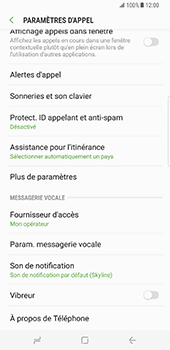 Samsung Galaxy S8 Plus - Messagerie vocale - configuration manuelle - Étape 7