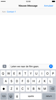 Apple Apple iPhone 6 Plus iOS 10 - iOS features - Stuur een iMessage - Stap 12