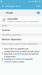 Samsung Galaxy S7 - Wi-Fi - Como usar seu aparelho como um roteador de rede wi-fi - Etapa 12