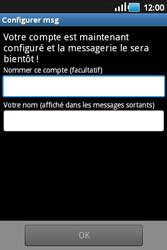 Samsung S5660 Galaxy Gio - E-mail - Configuration manuelle - Étape 12