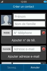Samsung Wave M - Contact, Appels, SMS/MMS - Ajouter un contact - Étape 4