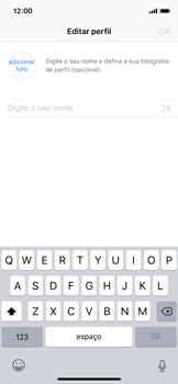 Apple iPhone X - iOS 12 - Aplicações - Como configurar o WhatsApp -  13