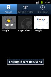 Samsung S5690 Galaxy Xcover - Internet - Navigation sur internet - Étape 9
