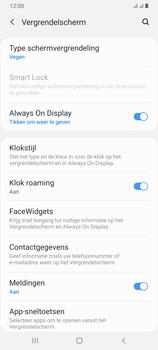 Samsung Galaxy A70 - Beveiliging en privacy - automatische schermblokkering instellen - Stap 5