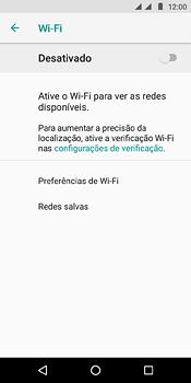 Motorola Moto E5 - Wi-Fi - Como configurar uma rede wi fi - Etapa 6