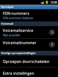 Samsung S5360 Galaxy Y - Voicemail - handmatig instellen - Stap 5