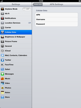 Apple The New iPad - Internet - Manual configuration - Step 6