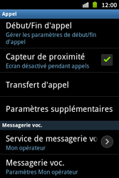 Samsung S6500D Galaxy Mini 2 - Messagerie vocale - configuration manuelle - Étape 6