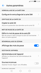 Huawei P10 - Sécuriser votre mobile - Personnaliser le code PIN de votre carte SIM - Étape 5