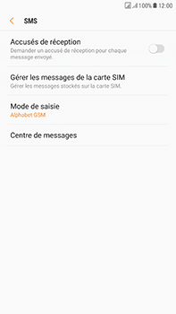 Samsung J730F Galaxy J7 (2017) (DualSIM) - SMS - configuration manuelle - Étape 8