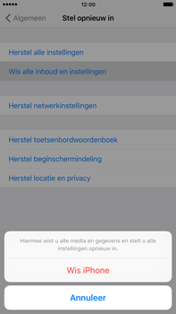 Apple iPhone 6 Plus met iOS 9 (Model A1524) - Instellingen aanpassen - Fabrieksinstellingen terugzetten - Stap 6