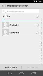 Huawei Ascend P6 (Model P6-U06) - Contacten en data - Contacten overzetten via Bluetooth - Stap 5