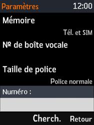 Nokia 3310 - Messagerie vocale - Configuration manuelle - Étape 7