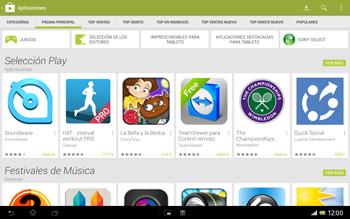 Sony Xperia Tablet Z - Aplicaciones - Descargar aplicaciones - Paso 4