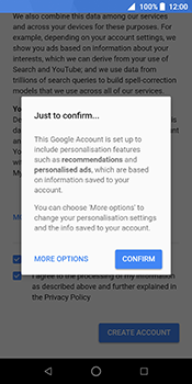 ZTE Blade V9 - Applications - Create an account - Step 17