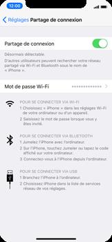 Apple iPhone X - Internet et connexion - Utiliser le mode modem par USB - Étape 7