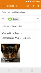 Wiko U-Feel Lite - E-mail - Sending emails - Step 15