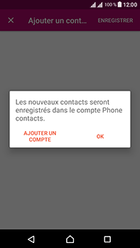 Sony Xperia L1 - Contact, Appels, SMS/MMS - Ajouter un contact - Étape 9