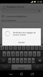 Sony C1905 Xperia M - E-mail - Configurer l