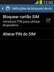 Samsung Galaxy Pocket Neo - Segurança - Como ativar o código PIN do cartão de telemóvel -  8
