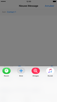 Apple Apple iPhone 6 Plus iOS 10 - iOS features - Stuur een iMessage - Stap 17