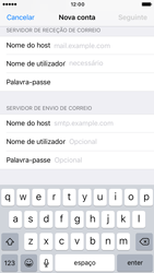 Apple iPhone 6 iOS 10 - Email - Configurar a conta de Email -  13